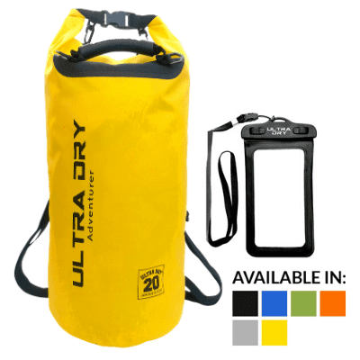 Dry bag backpack yellow 20l